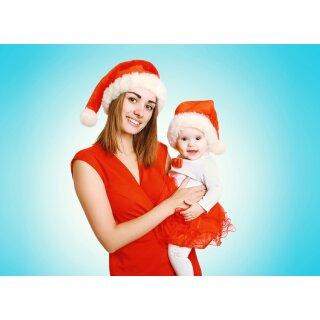 Baby Weihnachtsmütze Nikolausmütze Santa Xmas Blau Fleece Jungs Nikolaus Mütze