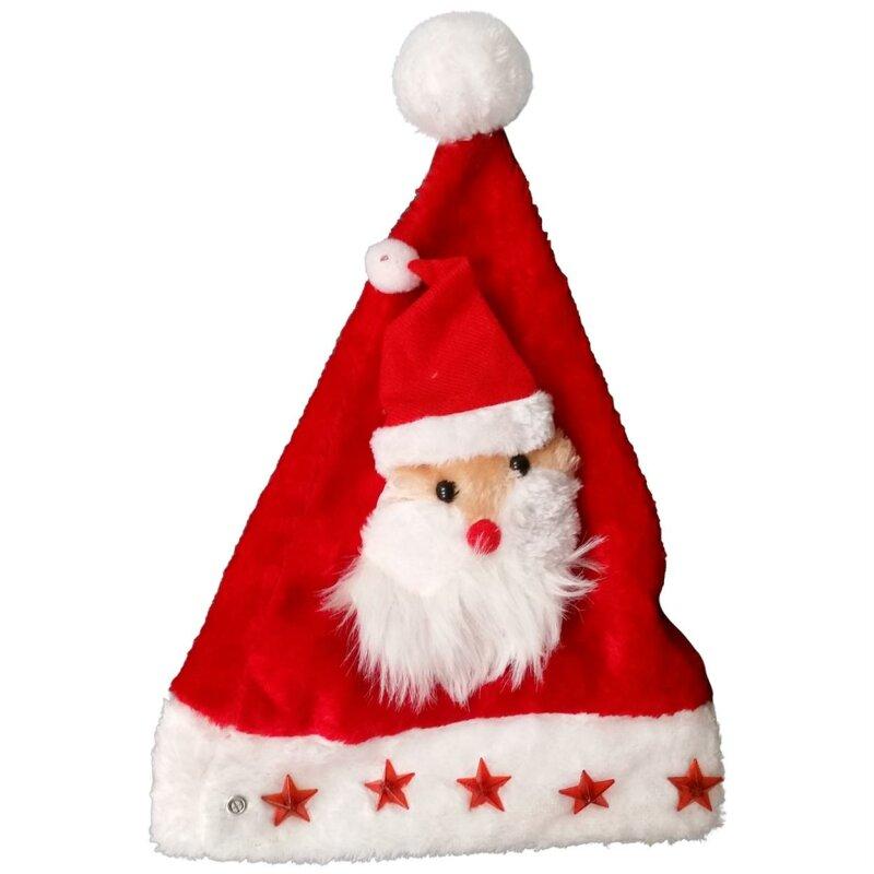 Xmas Hut Hut Santa head Weihnachtsmann Kopf Weihnachtsmütze